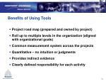benefits of using tools
