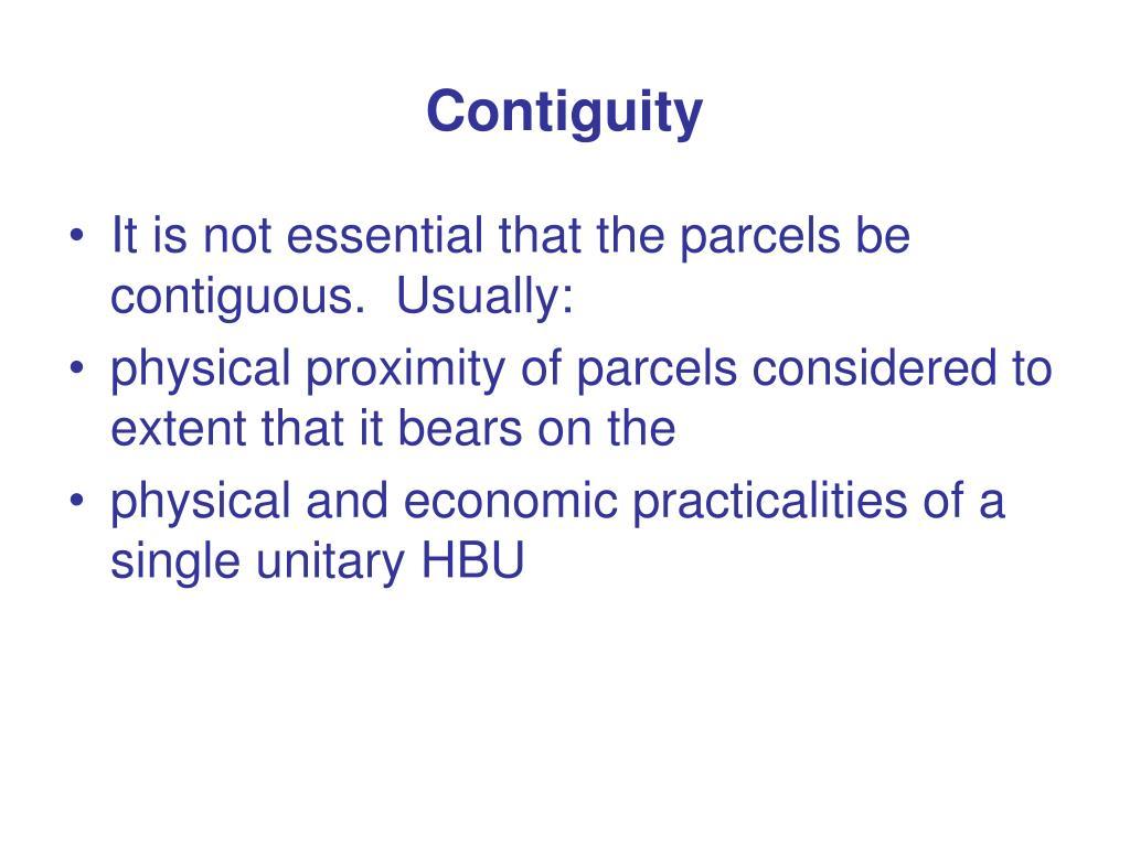 Contiguity