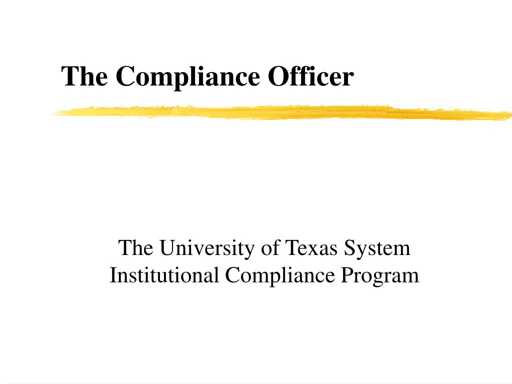 the university of texas system institutional compliance program l.