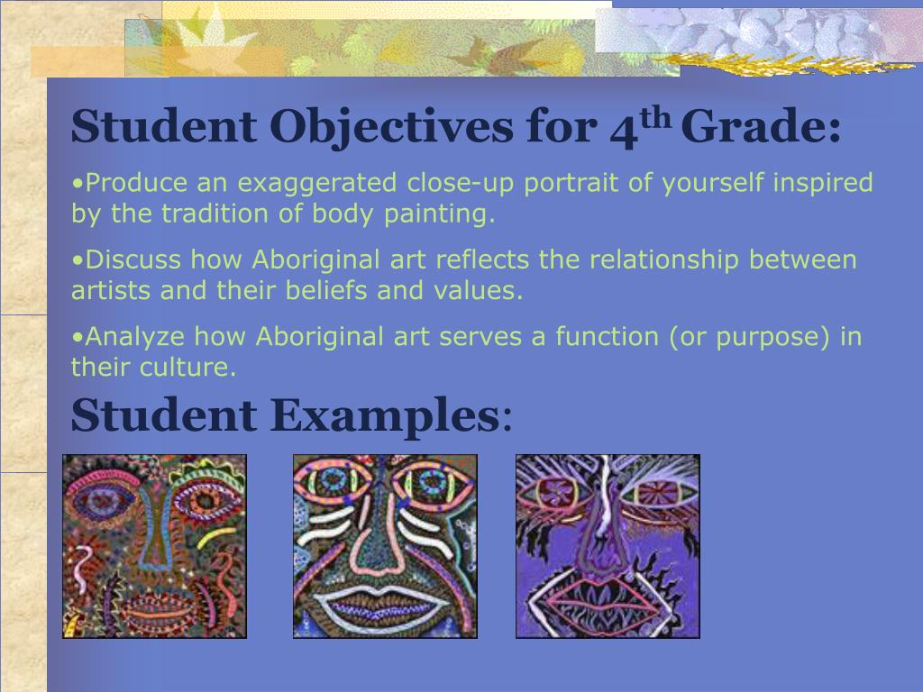 Student Objectives for 4