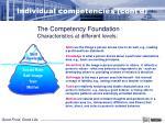 individual competencies cont d