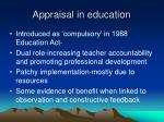 appraisal in education