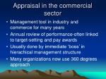 appraisal in the commercial sector