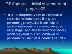 gp appraisal initial statements of purpose 2