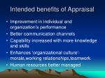 intended benefits of appraisal