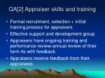 qa 2 appraiser skills and training