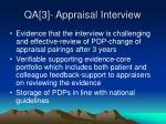 qa 3 appraisal interview