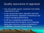 quality assurance of appraisal14