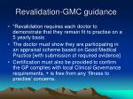 revalidation gmc guidance