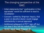 the changing perspective of the gmc