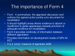 the importance of form 4