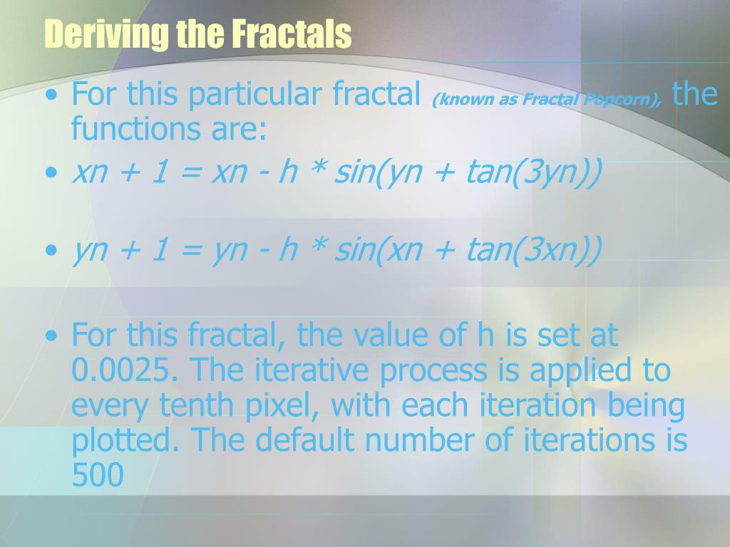 Deriving the Fractals