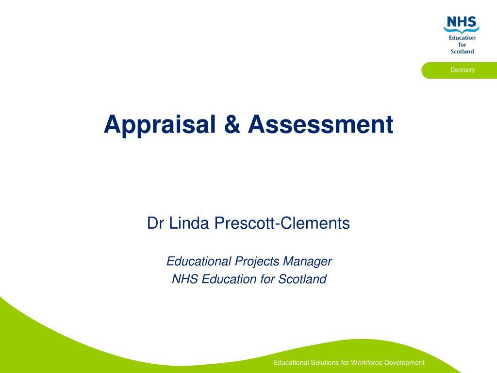 Appraisal & Assessment