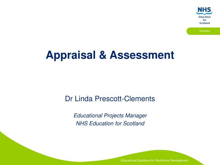 Appraisal assessment