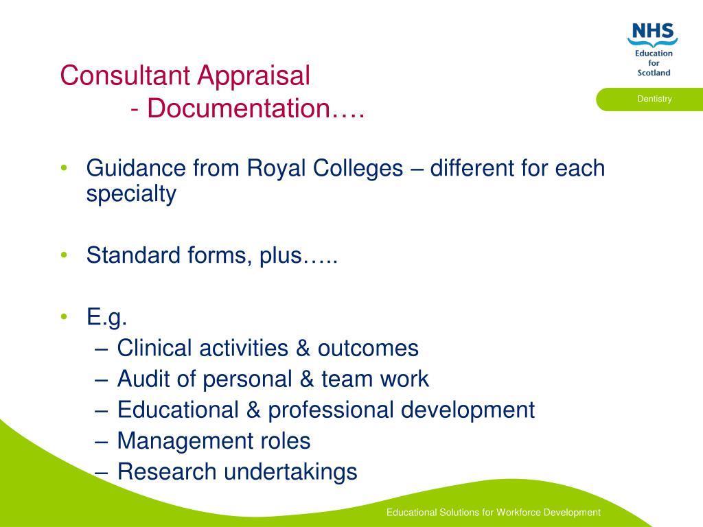 Consultant Appraisal