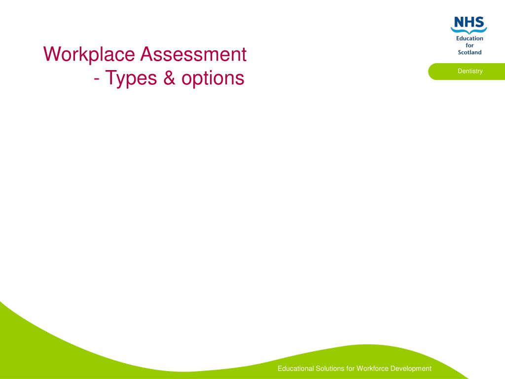 Workplace Assessment