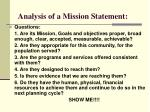 analysis of a mission statement