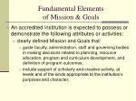 fundamental elements of mission goals
