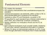 fundamental elements