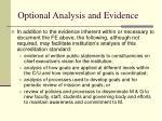 optional analysis and evidence1