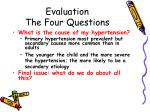 evaluation the four questions7