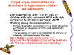 target organ abnormalities are detectable in hypertensive children and adolescents