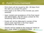 fund disbursement