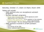 outreach expo