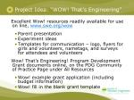 project idea wow that s engineering