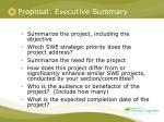 proposal executive summary