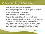 proposal project description