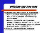 briefing the records