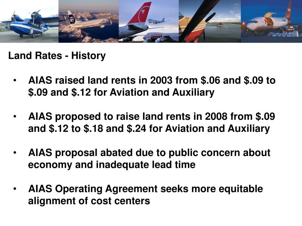 Land Rates - History