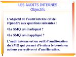 les audits internes objectifs