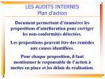 les audits internes plan d action