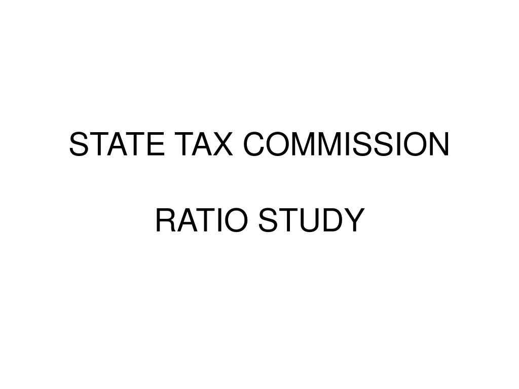 state tax commission ratio study l.