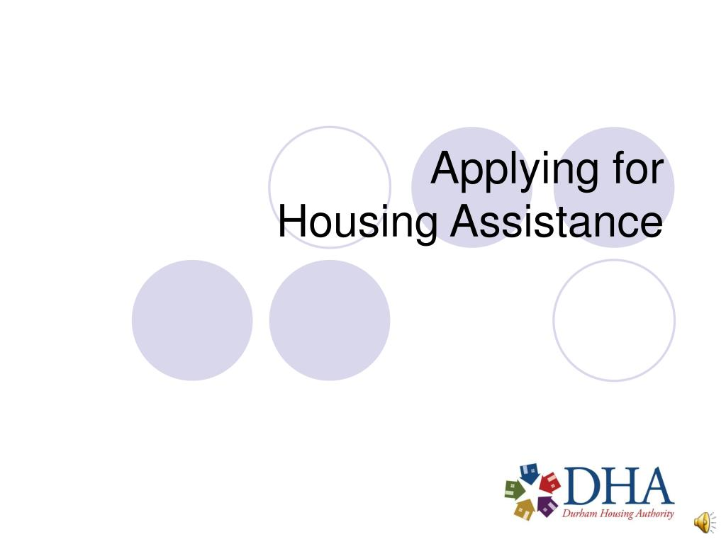 applying for housing assistance l.