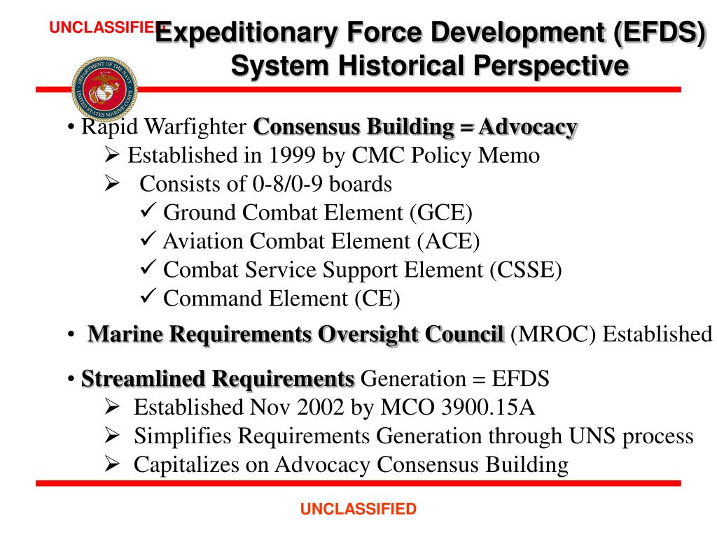 Expeditionary Force Development (EFDS) System Historical Perspective