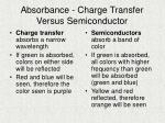 absorbance charge transfer versus semiconductor