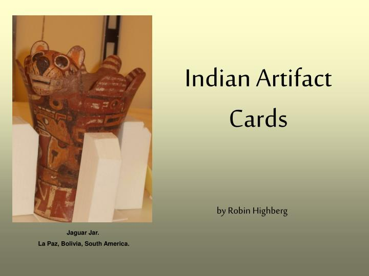 Indian artifact cards
