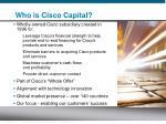 who is cisco capital