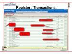 register transactions