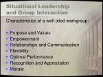 situational leadership and group interaction