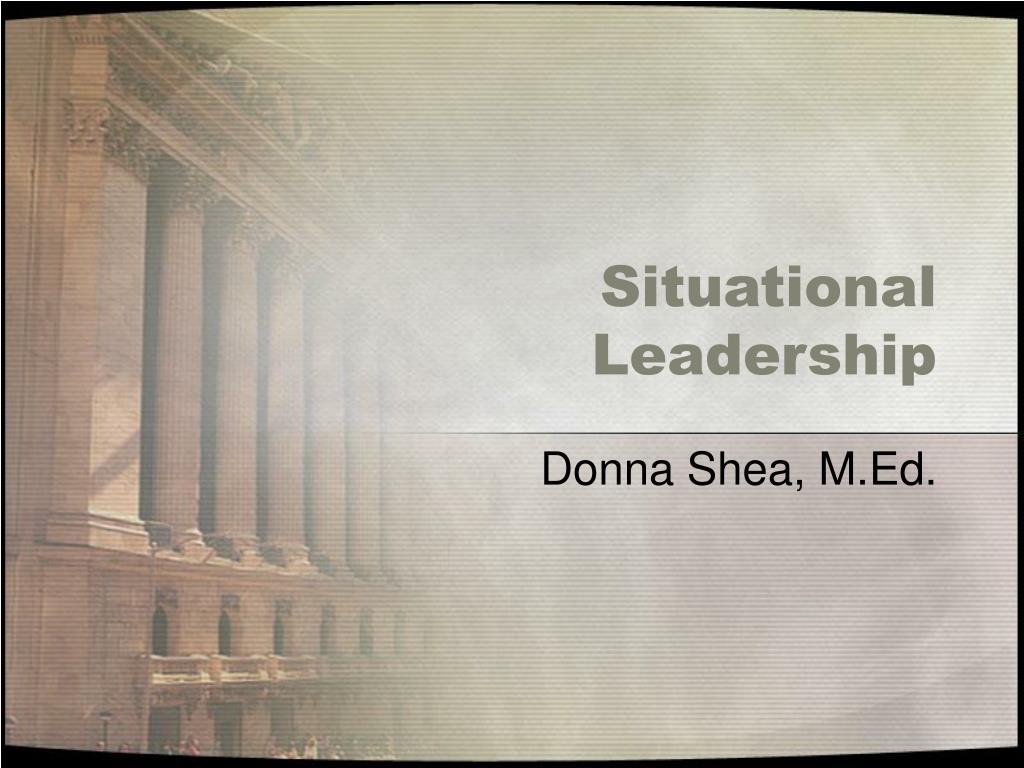 situational leadership l.