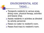 environmental aide tasks 1 2