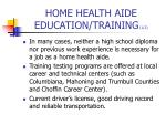 home health aide education training 1 2