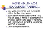 home health aide education training 2 2
