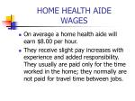 home health aide wages