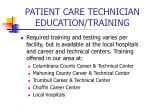 patient care technician education training
