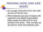 personal home care aide wages